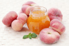 Peaches marmalade Stock Photography