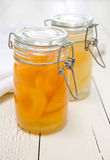 Peaches Mason Jar Royalty Free Stock Photos