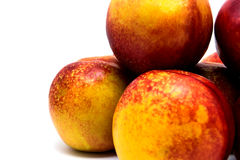 Peaches nectarines isolated Stock Photo