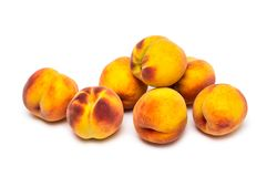 Peaches. On a white background Royalty Free Stock Image