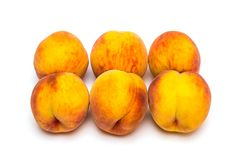 Peaches. On a white background Stock Photography