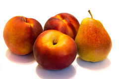 Peaches and pears Royalty Free Stock Images