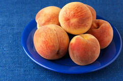 Peaches in plate Royalty Free Stock Photo