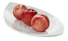 Peaches on Plate Royalty Free Stock Images