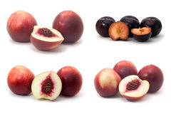 Peaches and plums Stock Photos