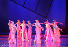 Peaches and plums fragrance-The dance drama The legend of the Condor Heroes Royalty Free Stock Photo