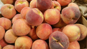 Peaches. At a produce stand Stock Photo