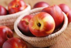 Peaches ripe nectarines stock photos