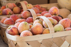 Peaches For Sale At Farmers Market Royalty Free Stock Image