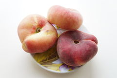 Peaches on a saucer Royalty Free Stock Image
