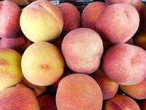 Peaches. Soft and ripe peaches Royalty Free Stock Photo