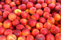 Peaches. A stack of peaches. Can be used as background Stock Image