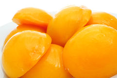 Peaches in syrup Stock Photography