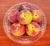 Peaches on table Royalty Free Stock Photography
