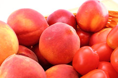 Peaches and tomatoes Royalty Free Stock Photo