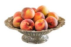 Peaches in a vase Stock Photos