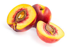 Peaches on a white Royalty Free Stock Photography