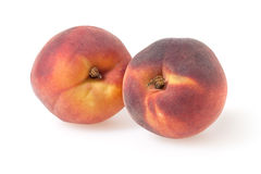 Peaches  on white. Background with clipping path Stock Photography