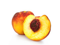 Peaches  on white Stock Images