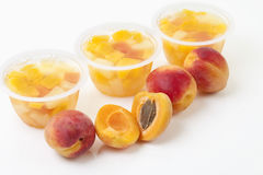 Peaches on white background Stock Photography
