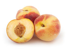 Peaches  on white background Stock Photos