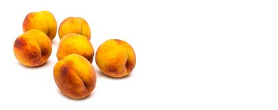 Peaches. On a white background Royalty Free Stock Photo