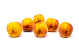 Peaches. On a white background Royalty Free Stock Photography