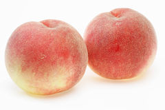 Peaches in a white background Royalty Free Stock Images