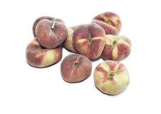 Peaches on a white background Royalty Free Stock Image