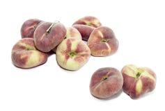 Peaches on a white background Royalty Free Stock Photo