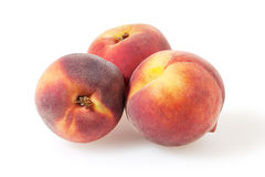 Peaches  on white with clipping path. Peaches  on white background with clipping path Royalty Free Stock Photo