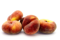 Peaches on white. Royalty Free Stock Images