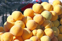 Peachs for sale Royalty Free Stock Image