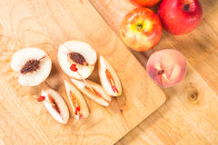 Peachs slice Royalty Free Stock Images