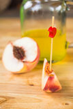 Peachs slice Royalty Free Stock Photo