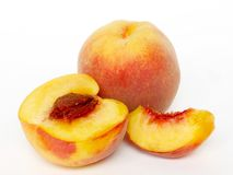 Peachy. Beautiful ripe and sweet peach Stock Photo
