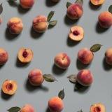Peachy achtergrond Naadloos patroon Royalty-vrije Stock Fotografie
