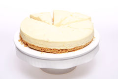 Peachy cheesecake stock image