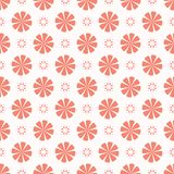 Peachy Coral Flower Blooms All Over Print Vector. Colorful Floral Seamless Repeating Pattern Background. Drawn Bold Large Scale Daisy Fashion Print, Wallpaper vector illustration