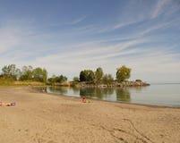Peaciful strand Arkivfoton