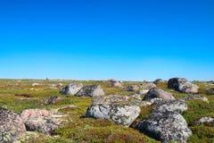 Peack de rochers de côte verte. Image libre de droits