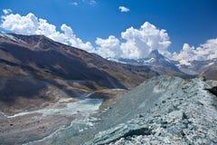Peack del Cervino - della Svizzera, paesaggio della montagna Fotografia Stock