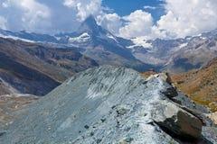 Peack del Cervino - della Svizzera, paesaggio della montagna Fotografie Stock Libere da Diritti