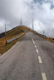 Peack of the mountain. The pick of the mountain with clouds Stock Image