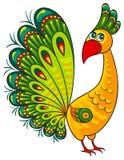 Peacock. Αφρικανικός χαρακτήρας άγριων ζώων κινούμενων σχεδίων Στοκ Εικόνες