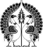Peacock. Vector illustration of stylized Bird Royalty Free Stock Photo