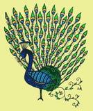 Peacock art illustration Stock Image