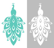Peacock. Blue and white bird. Blue and white bird. Vector illustration (EPS Stock Photos