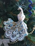 Peacock. Christmas tree fir Christmas new year christmas holiday sparkle Royalty Free Stock Photography