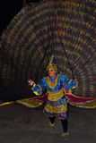 Peacock dance in a perahera, Sri Lanka. Peacock dance is not a traditional Sri Lankan dance. It is a modern dance that can see in Perahera season Royalty Free Stock Photo